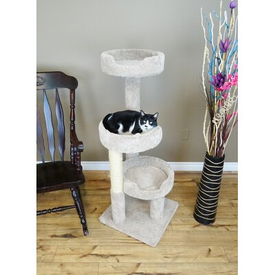 50 Premier Kitty Pad Cat Tree Color: Beige