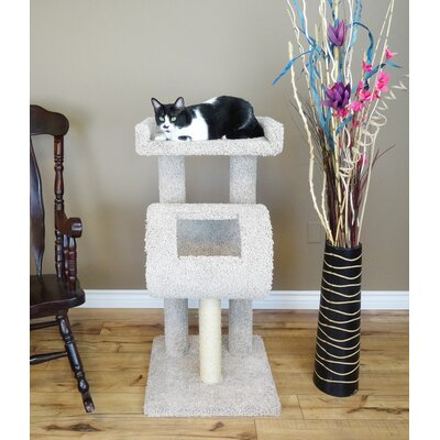 42 Premier Climber Cat Tree Color: Beige