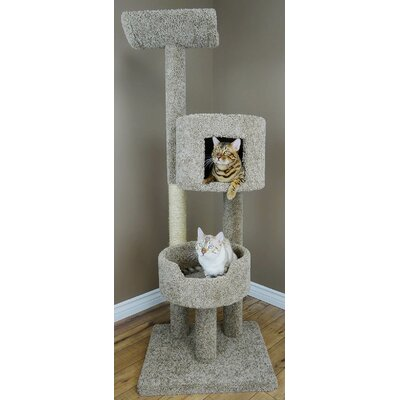 67 Deluxe Cat Tree Color: Brown