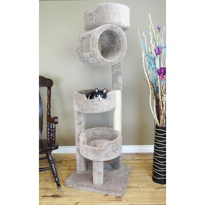 67 Premier Twin Tower Cat Tree Color: Brown