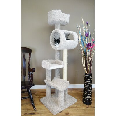 69 Deluxe Play Cat Condo Color: Beige