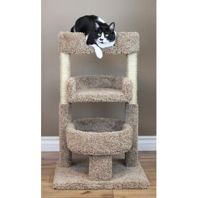 New Cat Condos Round 33 Triple Cat Perch Color: Brown