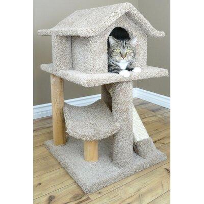 32 Premier Mini Pagoda Cat Condo Color: Beige
