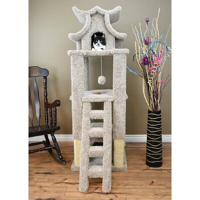 67 Premier Designer Cat Tree Color: Beige