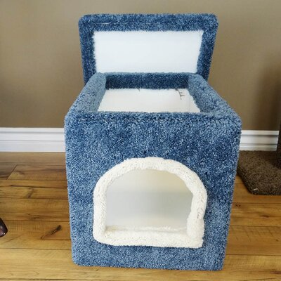 Premier Litter Box Enclosure Color: Blue, Size: 20 H x 20 W x 33 D
