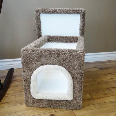 Premier Litter Box Enclosure Color: Brown, Size: 20 H x 20 W x 33 D