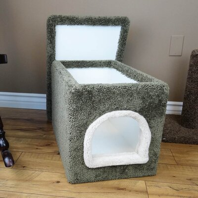 Premier Litter Box Enclosure Color: Green, Size: 16 H x 16 W x 24 D