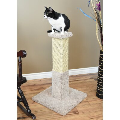 34 Premier Solid Wood Scratching Post Color: Beige