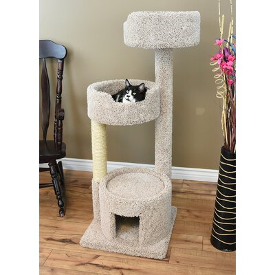 52 Cat Tree Color: Beige