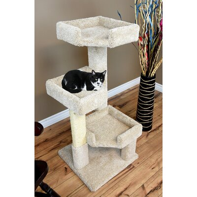 46 New Cat Condos Solid Wood Triple Kitty Pad Color: Beige