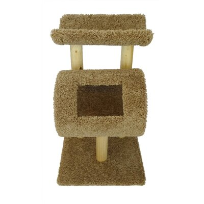 32 New Kitty Cat Condo Color: Brown
