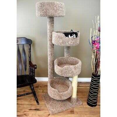 64 New Stairway Cat Condo Color: Brown