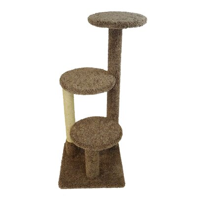 47 New Triple Tower Cat Condo Color: Brown