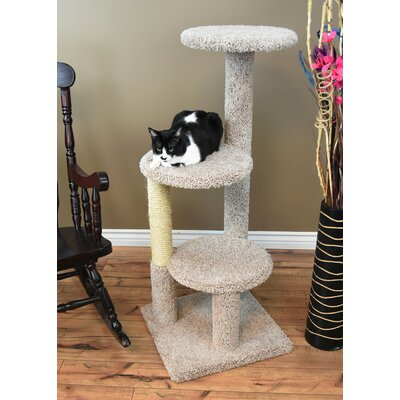 47 New Triple Tower Cat Condo Color: Beige