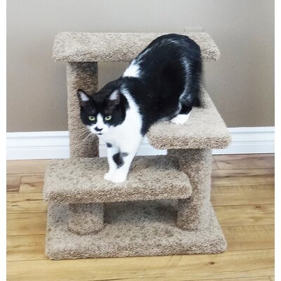 21 New Crazy Pet Steps Cat Condo Color: Brown