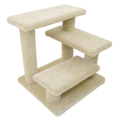 21 New Crazy Pet Steps Cat Condo Color: Beige