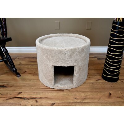 17 New Extra Large Carpeted Cat Condo Color: Beige