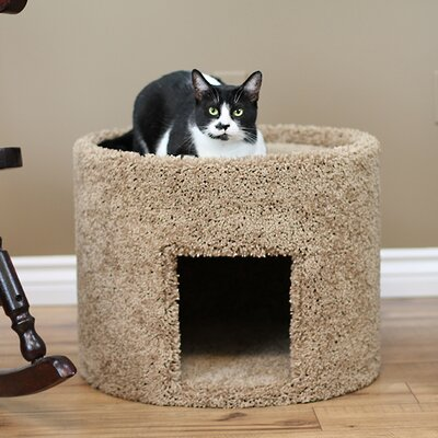 17 New Extra Large Carpeted Cat Condo Color: Brown