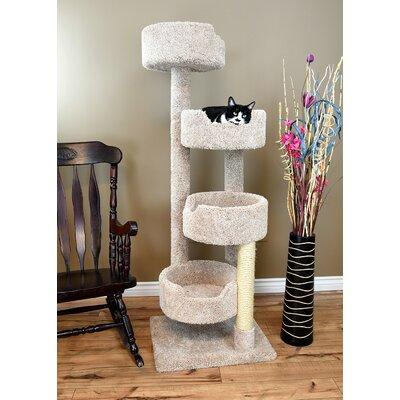 64 New Stairway Cat Condo Color: Beige