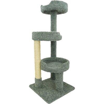 50 Premier Kitty Pad Cat Tree Color: Green