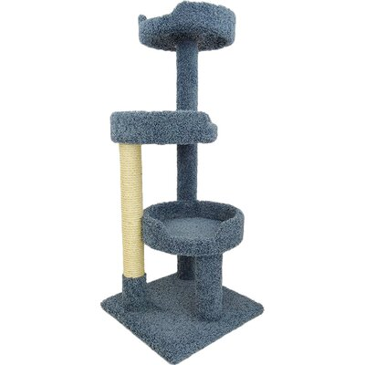 50 Premier Kitty Pad Cat Tree Color: Blue