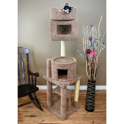71 Kitty PlayStation Cat Condo Color: Brown