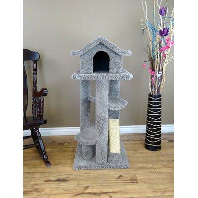 46 Premier Cat Pagoda Tree Color: Gray