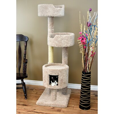 64 New  Cat Condo Color: Beige