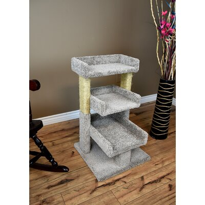32 Premier Triple Cat Perch Color: Gray