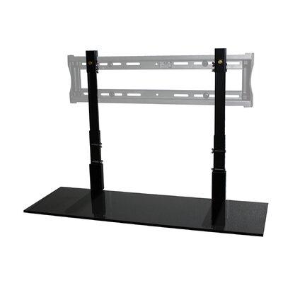 LCD TV Shelf Shelf Finish: Black Glass