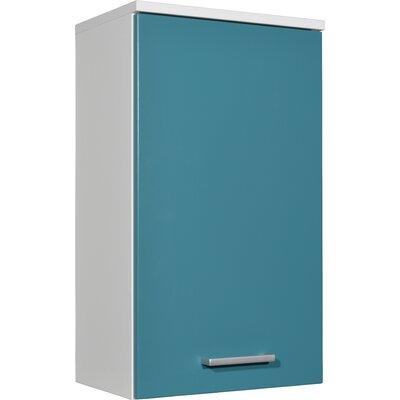 Colori 84 x 79 cm Bathroom Cabinet in White and Pertrol