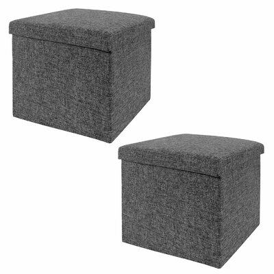 Foldable Storage Cube Ottoman Set