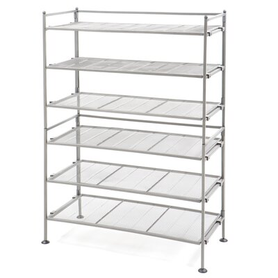 Utility 3-Tier Shoe Rack Finish: Satin Pewter