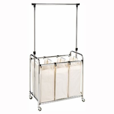 Seville Classics 3-Bag Laundry Sorter with Hanging Bar at Sears.com