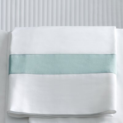 Orlo Pillowcase Size: Standard, Color: White / Navy