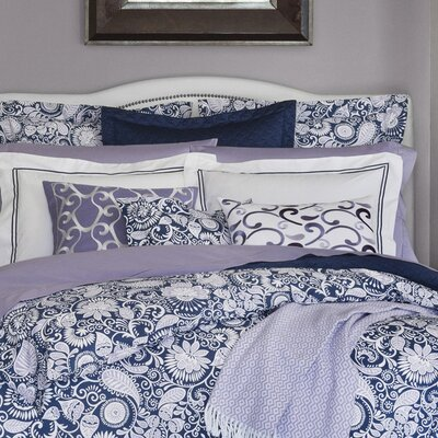 Ressa Duvet Cover Size: Twin, Color: Aqua/Cornflower