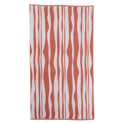 Ridges Beach Towel Color: Salmon