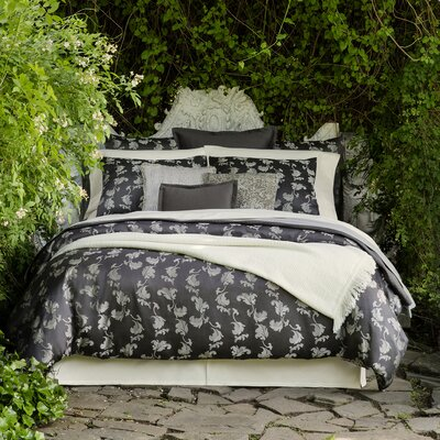 Miana Duvet Cover Color: Charcoal, Size: King