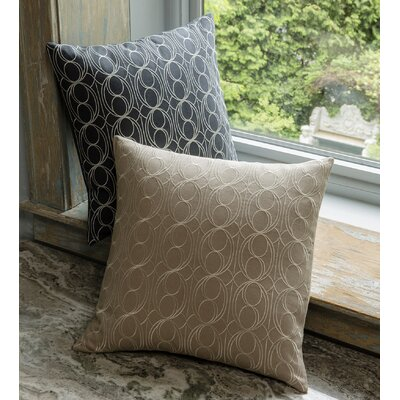 Linna Linen Throw Pillow Color: Indigo/Silver