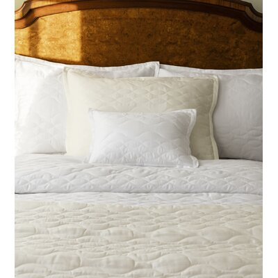 Franca Quilted Sham Color: Ivory, Size: Continental