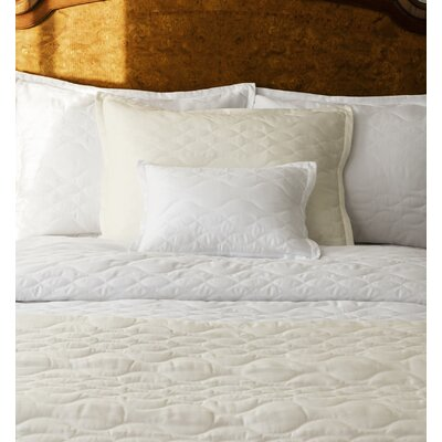 Franca Quilt Size: King, Color: White