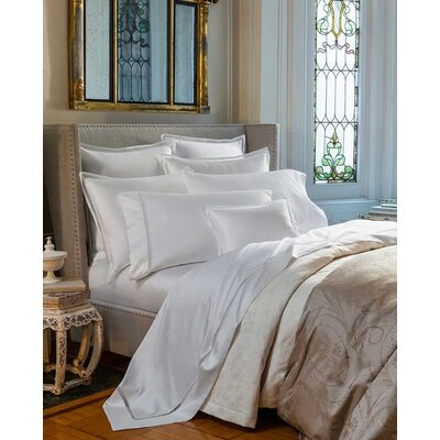 Trina 100% Cotton Flat Sheet Color: Ivory, Size: King