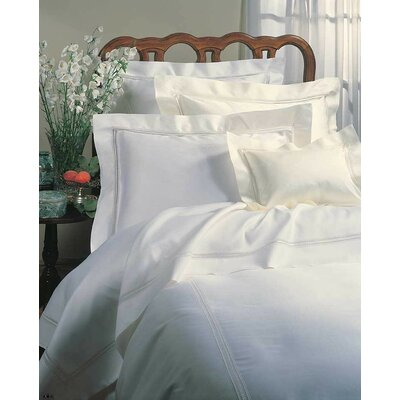 Diamante Cotton Flat Sheet Size: King, Color: Ivory
