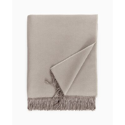 Bristol Fringed Throw Color: Taupe
