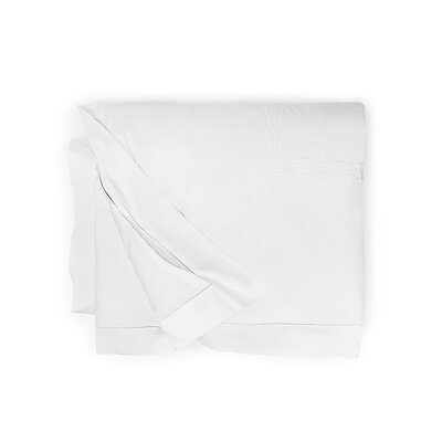 Genna Duvet Cover Color: White/White, Size: King