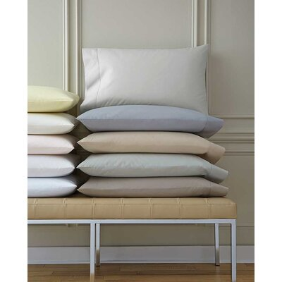 Celeste Pillow Case Color: Mushroom, Size: King