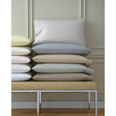 Celeste Cotton Flat Sheet Color: Gray, Size: Full/Queen