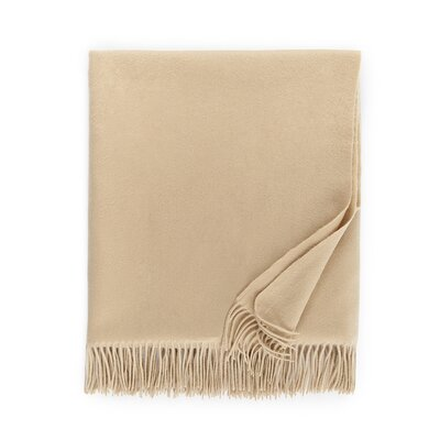 Dorsey Cashmere Throw Color: Almond