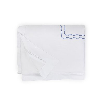 Genna Duvet Cover Color: White/Blue, Size: Twin