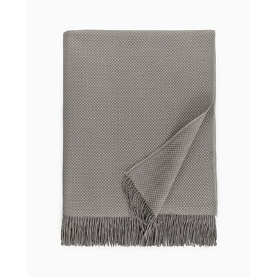 Bristol Fringed Throw Color: Gray